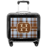 Two Color Plaid Pilot / Flight Suitcase (Personalized)