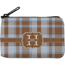Two Color Plaid Rectangular Coin Purse (Personalized)