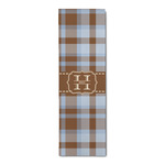 Two Color Plaid Runner Rug - 3.66'x8' (Personalized)