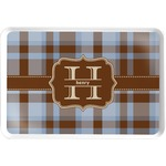 Two Color Plaid Serving Tray (Personalized)