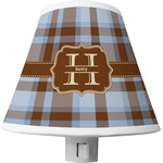 Two Color Plaid Shade Night Light (Personalized)