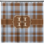 Two Color Plaid Shower Curtain (Personalized)