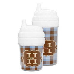 Two Color Plaid Sippy Cup (Personalized)