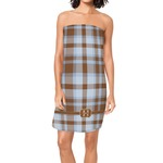 Two Color Plaid Spa / Bath Wrap (Personalized)