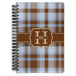 Two Color Plaid Spiral Bound Notebook (Personalized)