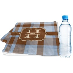 Two Color Plaid Sports Towel (Personalized)