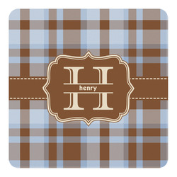 Two Color Plaid Square Decal - Custom Size (Personalized)
