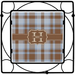 Two Color Plaid Square Trivet (Personalized)