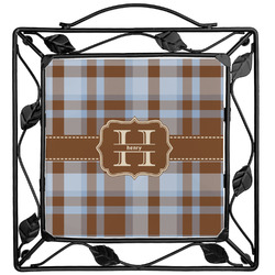 Two Color Plaid Trivet (Personalized)
