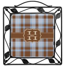Two Color Plaid Trivet (Personalized)