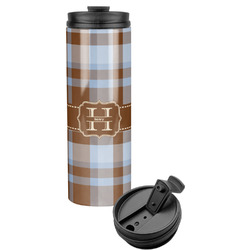 Two Color Plaid Stainless Steel Tumbler (Personalized)