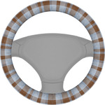 Two Color Plaid Steering Wheel Cover (Personalized)