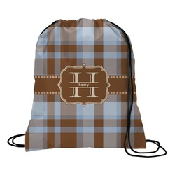 Two Color Plaid Drawstring Backpack (Personalized)