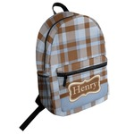 Two Color Plaid Student Backpack (Personalized)