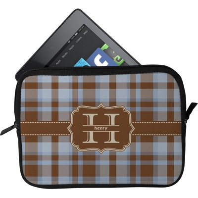 Two Color Plaid Tablet Case / Sleeve (Personalized)