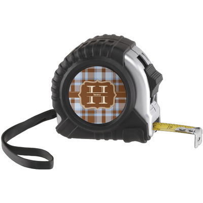 Two Color Plaid Tape Measure (25 ft) (Personalized)