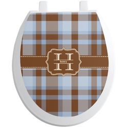 Two Color Plaid Toilet Seat Decal (Personalized)