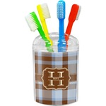 Two Color Plaid Toothbrush Holder (Personalized)