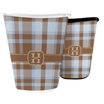 Two Color Plaid Waste Basket (Personalized)