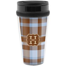 Two Color Plaid Travel Mug (Personalized)