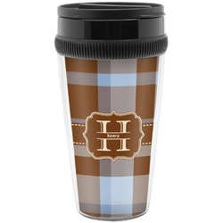 Two Color Plaid Travel Mug (Personalized)