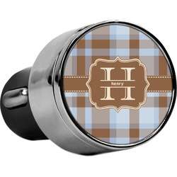 Two Color Plaid USB Car Charger (Personalized)