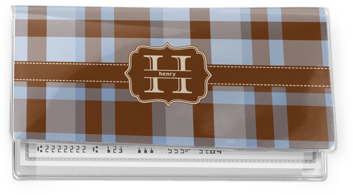 Checkered Cover Cookbook : Two color plaid vinyl check book cover personalized