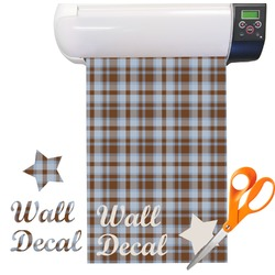 Two Color Plaid Pattern Vinyl Sheet (Re-position-able)