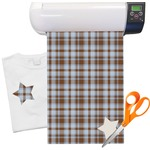 Two Color Plaid Heat Transfer Vinyl Sheet (12