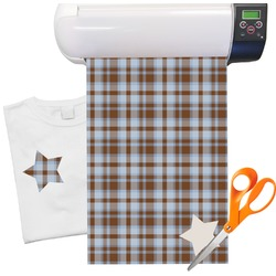 "Two Color Plaid Heat Transfer Vinyl Sheet (12""x18"")"