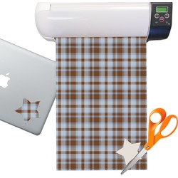 Two Color Plaid Sticker Vinyl Sheet (Permanent)