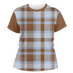 Two Color Plaid Women's Crew T-Shirt (Personalized)