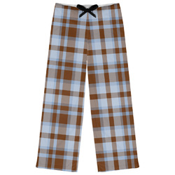 Two Color Plaid Womens Pajama Pants (Personalized)