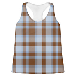Two Color Plaid Womens Racerback Tank Top (Personalized)