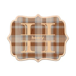 Two Color Plaid Genuine Wood Sticker (Personalized)