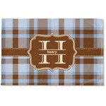 Two Color Plaid Woven Mat (Personalized)