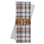 Two Color Plaid Yoga Mat Towel (Personalized)