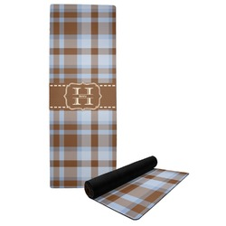 Two Color Plaid Yoga Mat (Personalized)