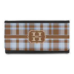 Two Color Plaid Leatherette Ladies Wallet (Personalized)