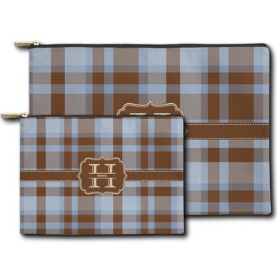 Two Color Plaid Zipper Pouch (Personalized)