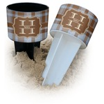Two Color Plaid Beach Spiker Drink Holder (Personalized)