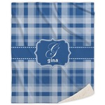 Plaid Sherpa Throw Blanket (Personalized)