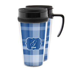 Plaid Acrylic Travel Mugs (Personalized)