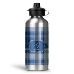 Plaid Water Bottle - Aluminum - 20 oz (Personalized)
