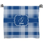 Plaid Full Print Bath Towel (Personalized)