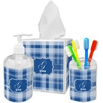 Plaid Bathroom Accessories Set (Personalized)