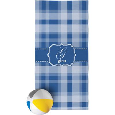 Plaid Beach Towel (Personalized)