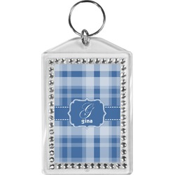 Plaid Bling Keychain (Personalized)