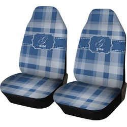 Plaid Car Seat Covers (Set of Two) (Personalized)