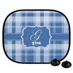 Plaid Car Side Window Sun Shade (Personalized)